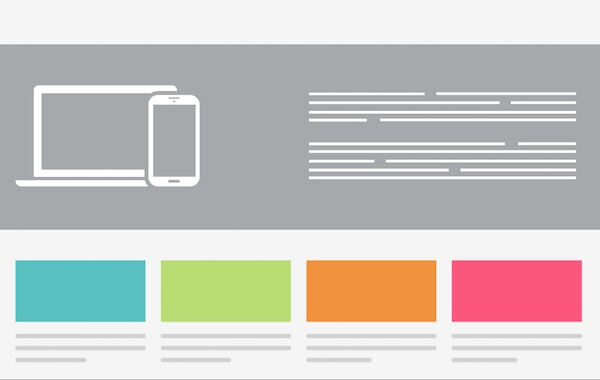 responsive web layout example