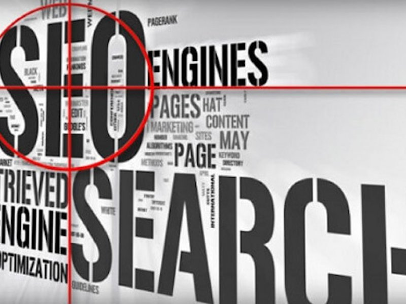 Grey and white text SEO and search